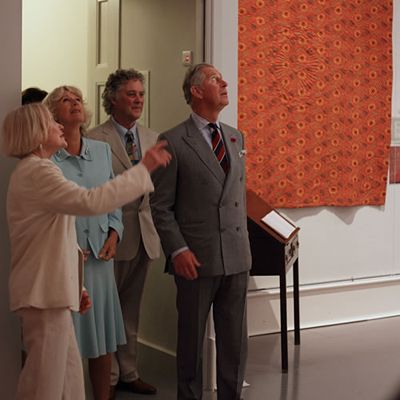 The Prince of Wales at the Welsh Quilt Centre